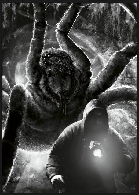 Illustration La terreur dans ses ténèbres par Sébastien Ecosse
