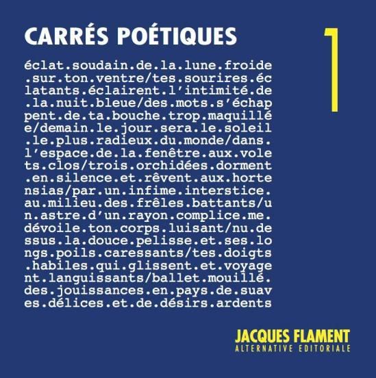 anthologie CARRÉS POÉTIQUES chez Jacques Flament éditions